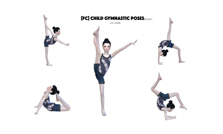 Child Gymnastic Poses for Sims 4