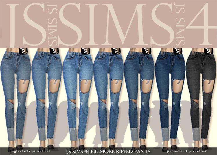 Fillmore Ripped Pants Sims 4 CC