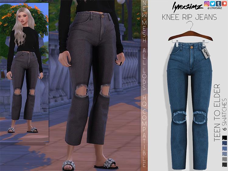 Knee Rip Jeans Sims 4 CC
