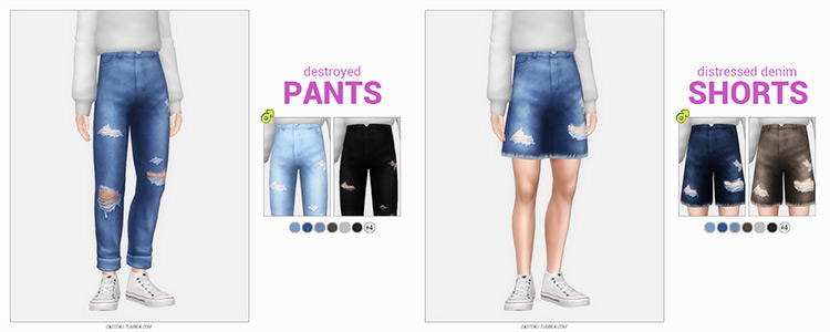 Destroyed Pants Sims 4 CC