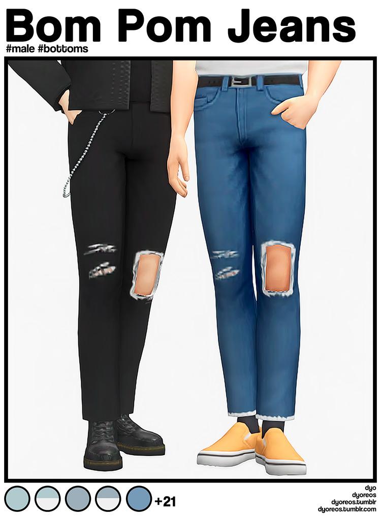 Bom Pom Jeans TS4 CC