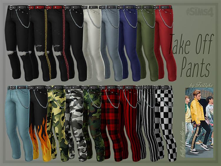 Take Off Pants Sims 4 CC
