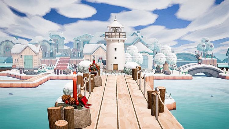 Pier with a lighthouse - ACNH Idea