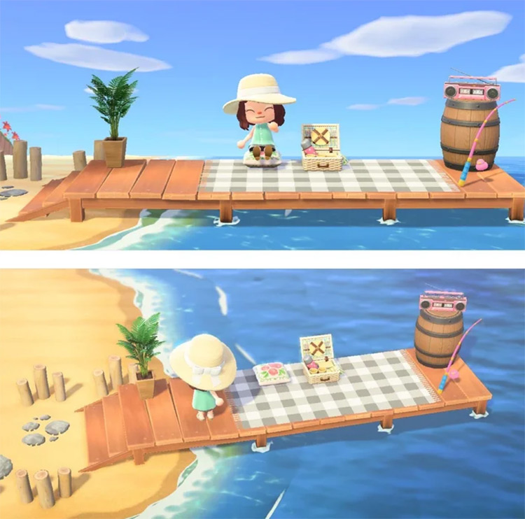 Perfect Picnic Place at the Pier - ACNH