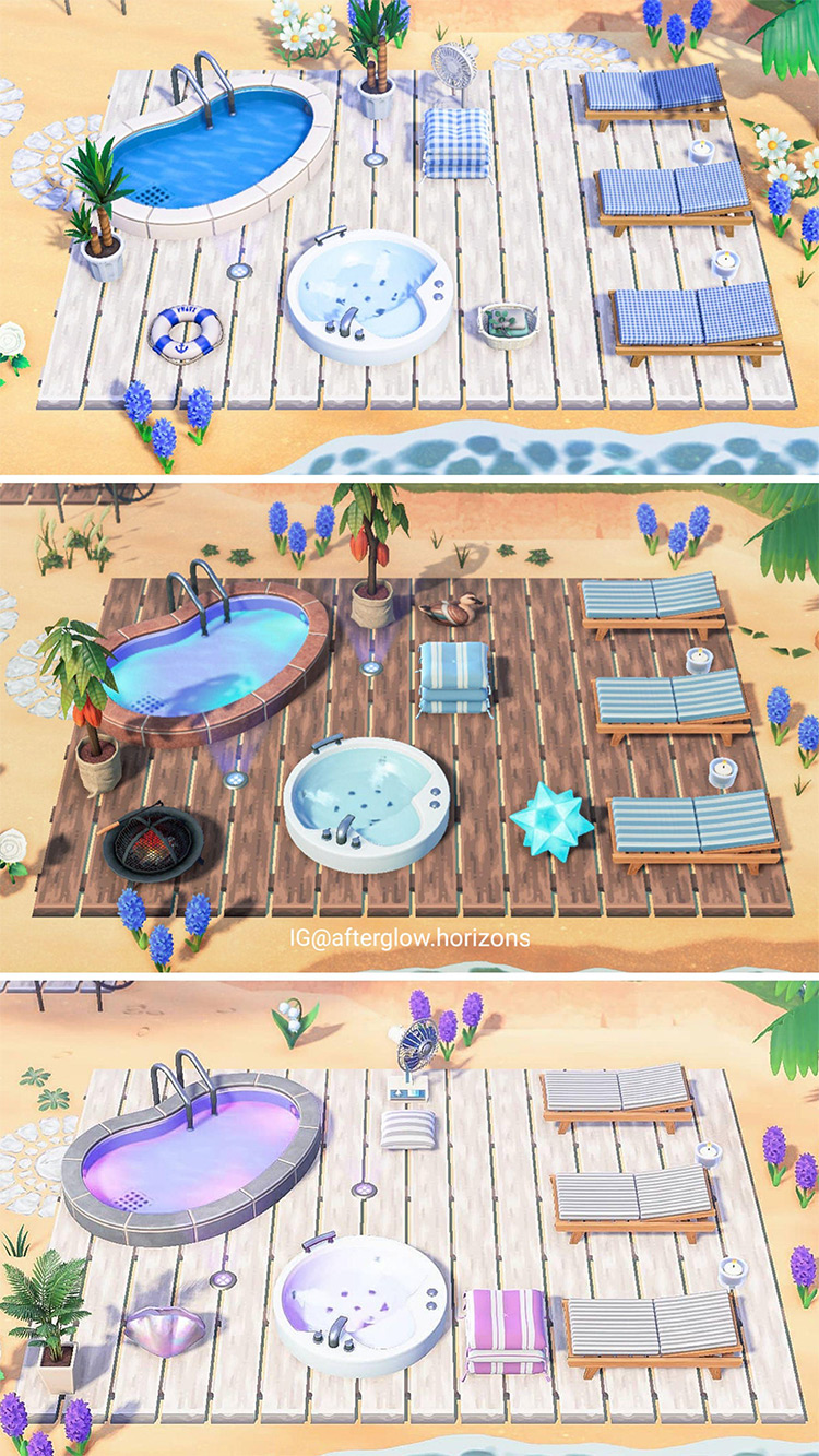 Perfect Pool Area Pier - ACNH