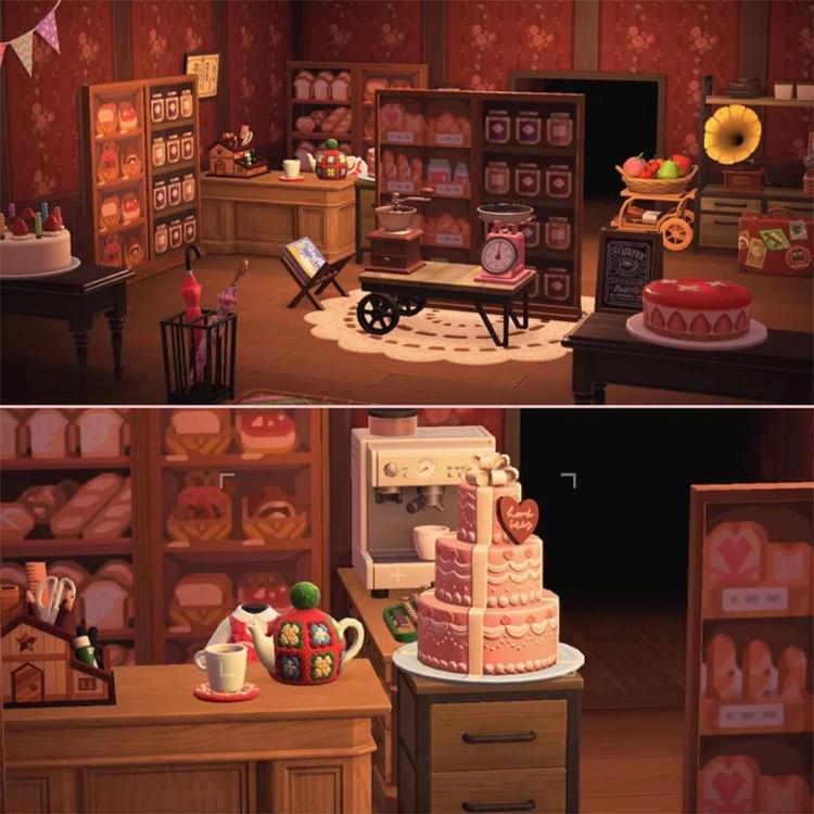 Cozy Bakery with Warm Hues - ACNH Idea