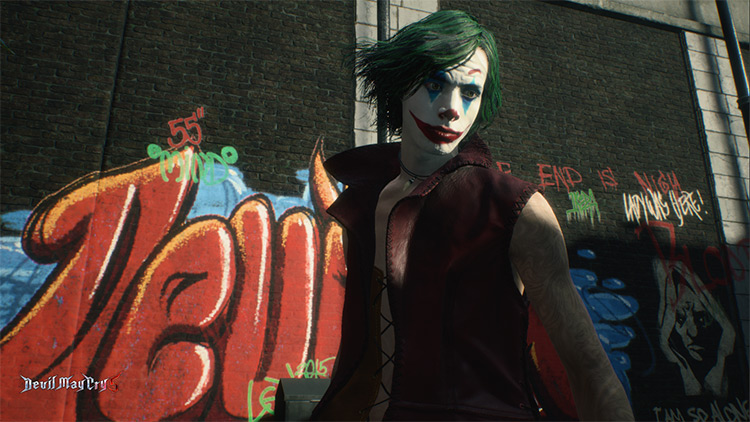 V Joker costume Devil May Cry 5 mod