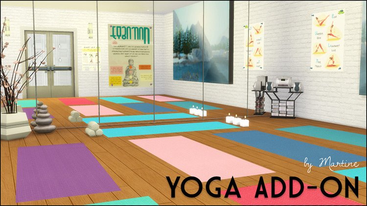 Yoga Add-on Sims 4 CC