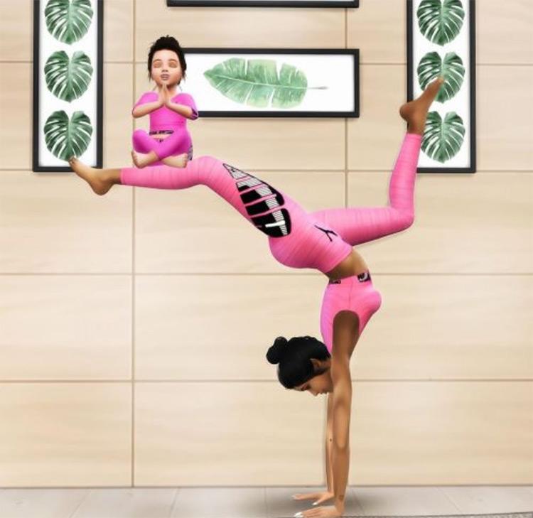 """Yoga With My Mini"" Poses TS4 CC"