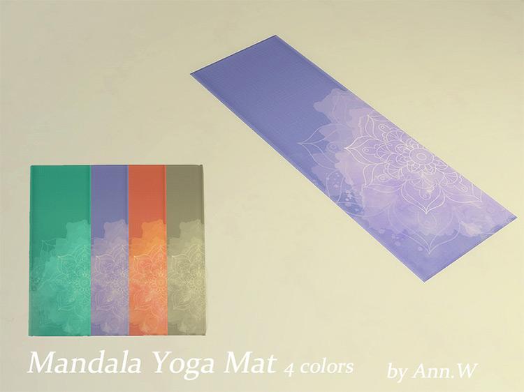 Mandala Yoga Mat Sims 4 CC
