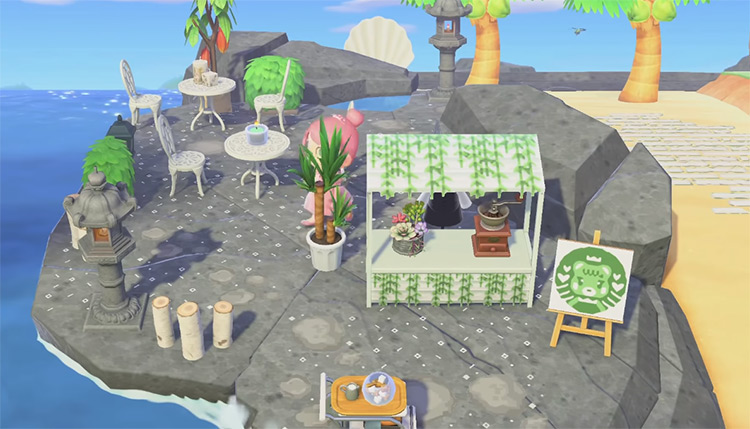 Beach Cafe in Summertime - ACNH Idea