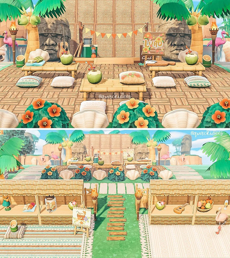 Luau Party Idea - ACNH
