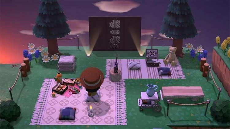 Outdoor Cinema Design Idea for ACNH