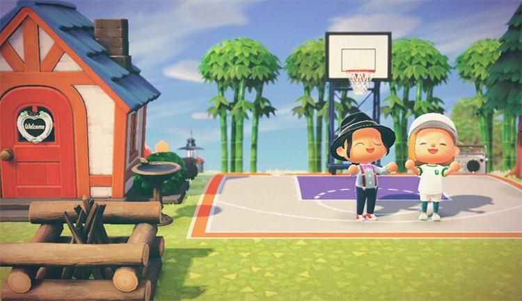 Basketball Court Idea - ACNH Design
