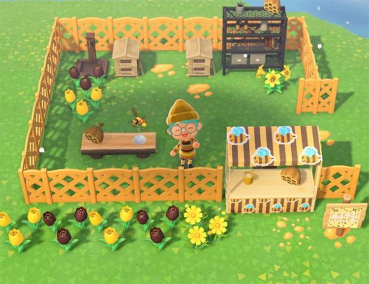 Artisan Honey Farm Idea - ACNH