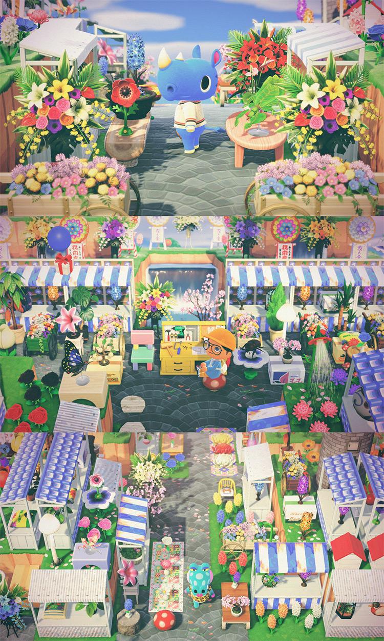Fragrant Flower Market - ACNH Design