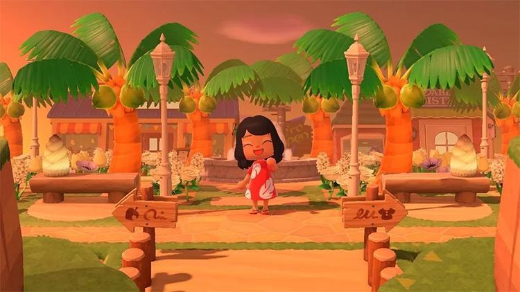 Tropical Island Getaway - ACNH Idea