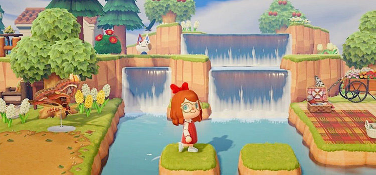 25 Waterfall Design Ideas For Animal Crossing: New Horizons Inspiration