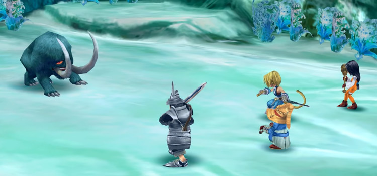 FF9 HD Ice Cavern Battle Screenshot