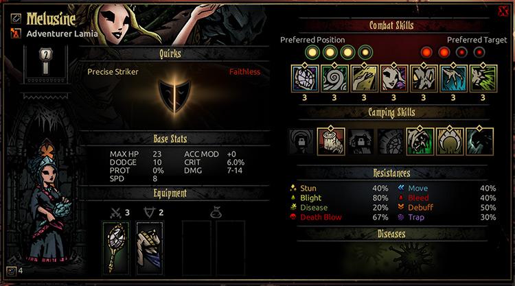 Marvin Seo's Lamia Class Mod for Darkest Dungeon
