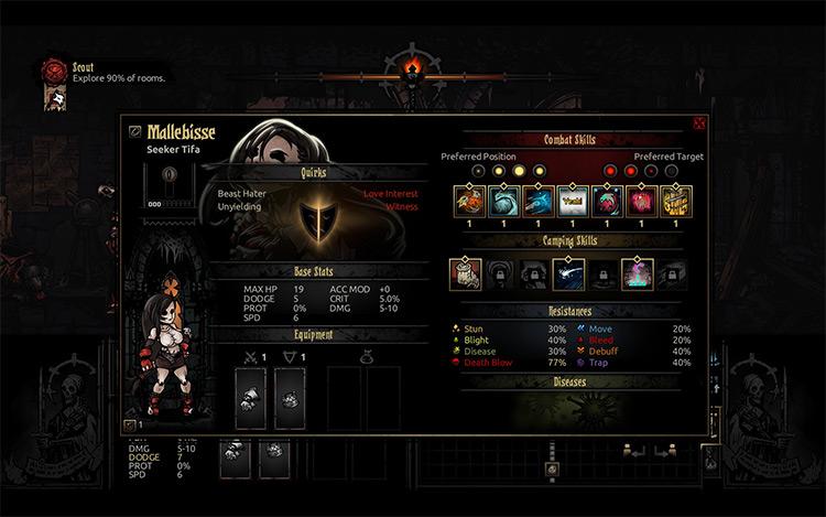 Tifa Lockhart Darkest Dungeon mod