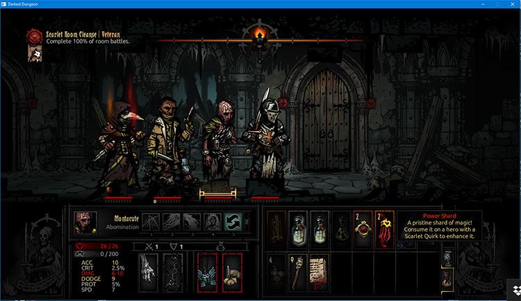 The Scarlet Ruins in Darkest Dungeon