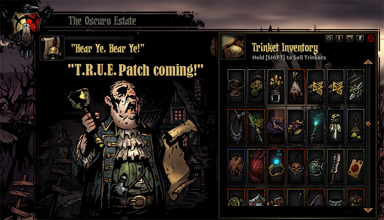 T.O.P. (Trinket Overhaul Project) Darkest Dungeon mod