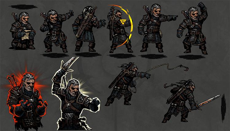 Geralt mod for Darkest Dungeon