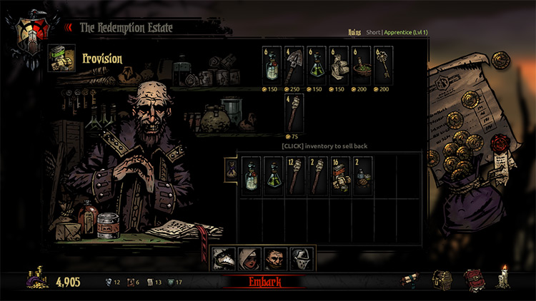 Inventory Balance in Darkest Dungeon