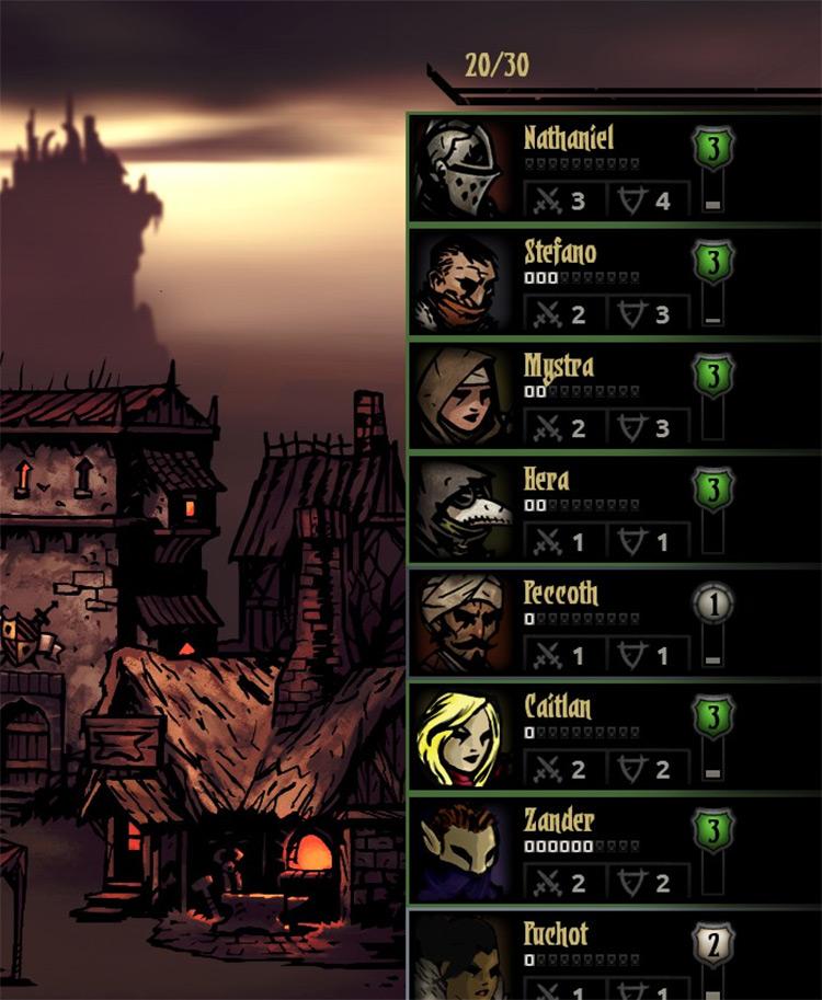 Roster Size Increase in Darkest Dungeon