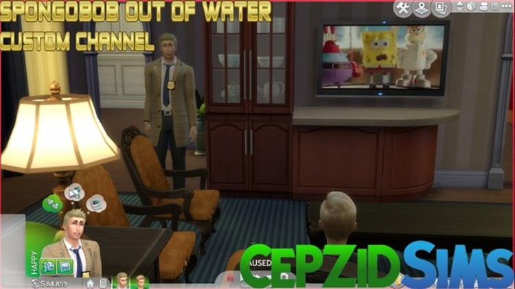 "Spongebob ""Out Of Water"" Custom Channel Sims 4 CC"