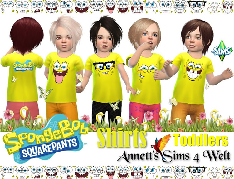 Toddler SpongeBob Shirts TS4 CC