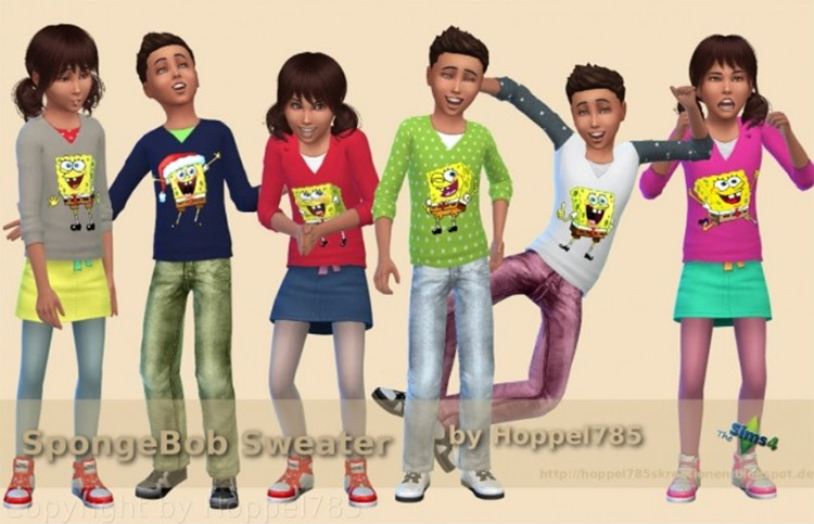 SpongeBob Sweater Sims 4 CC