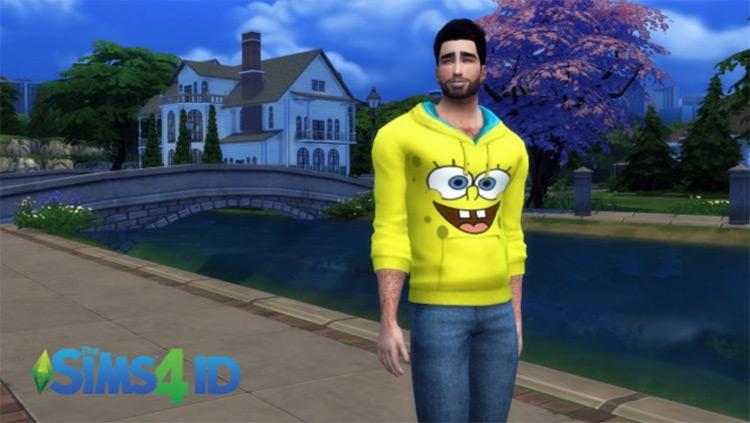 Spongebob Hoodie for Sims 4