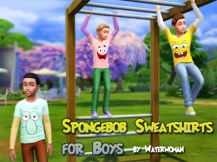 SpongeBob Sweatshirts Sims 4 CC