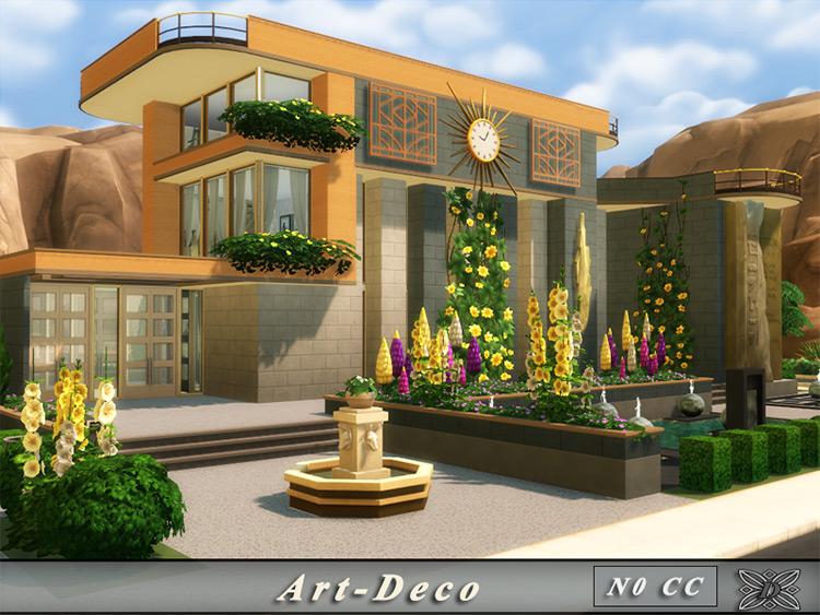 Art Deco House Sims 4 CC