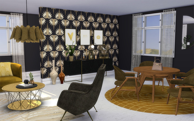 Bianca Living Room for Sims 4
