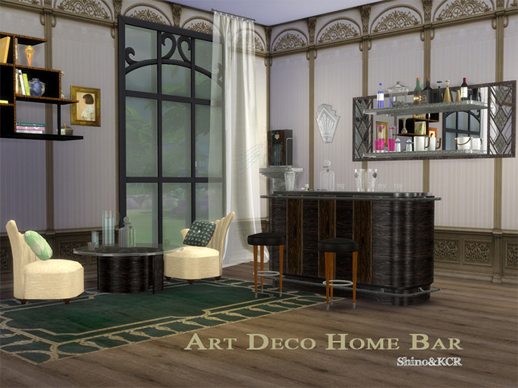 Art Deco Home Bar TS4 CC