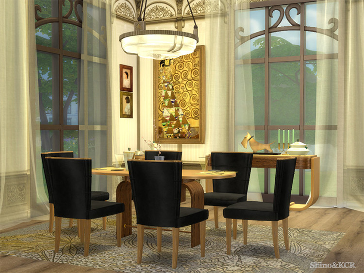 Art Deco Dining for Sims 4