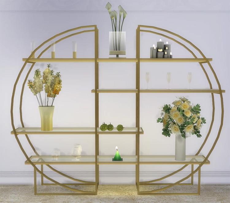 Art Deco Glass Shelv-s for Sims 4