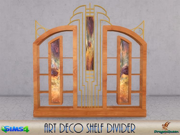 Art Deco Shelf Divider Sims 4 CC