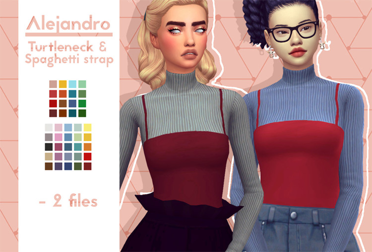 Alejandro Turtleneck CC Styles - Sims 4