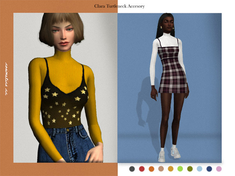 Clara Turtleneck CC for The Sims 4