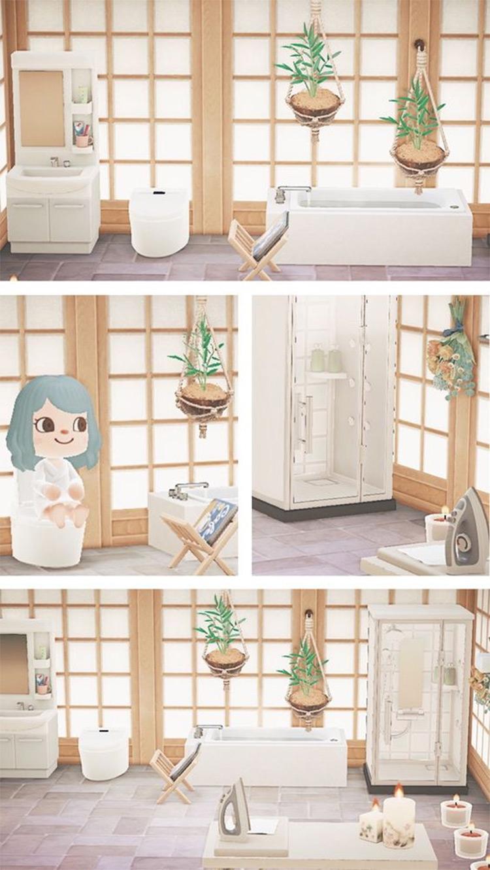 Shoji-themed Bathroom Design - ACNH