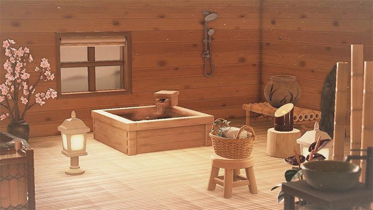 Japanese-themed bathroom idea - ACNH