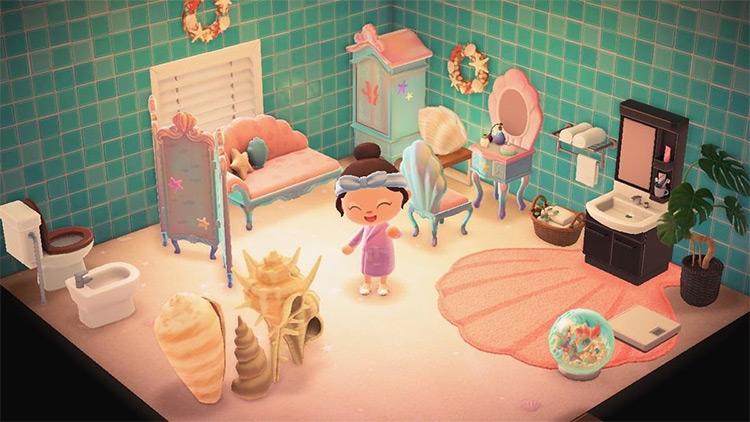 Mermaid-theme bathroom design idea