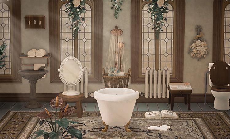 Antiques-themed bathroom idea - ACNH