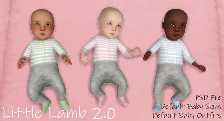 Little Lamb 2.0 Outfit for Sims 4