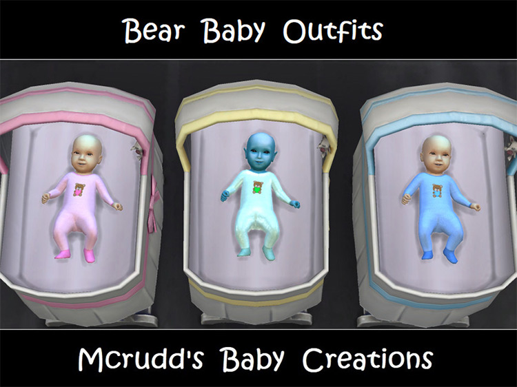 Baby Bear Outfits Sims 4 CC