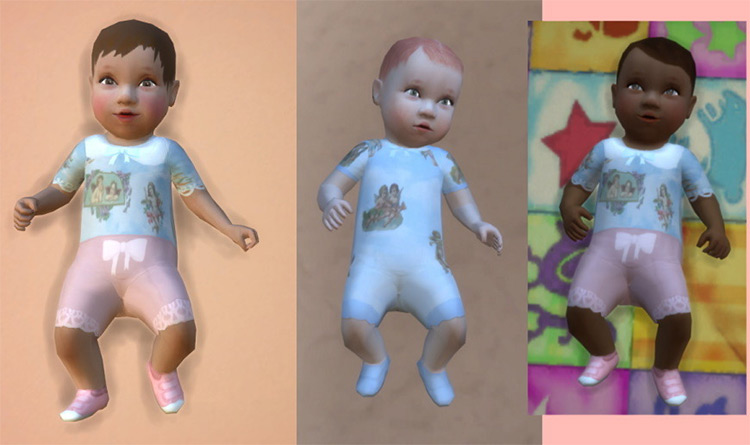 Baby Angel Outfits for Sims 4